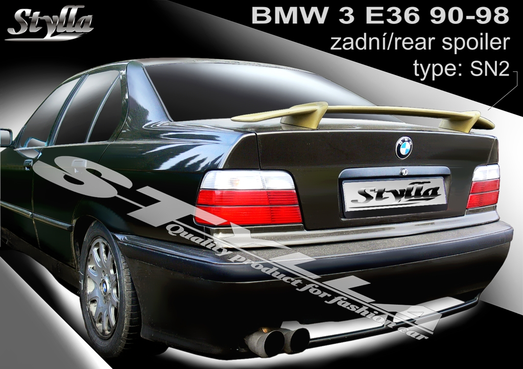 3bbcffc58819 Details about SPOILER REAR BOOT TRUNK TAILGATE BMW E36 sedan WING  ACCESSORIES