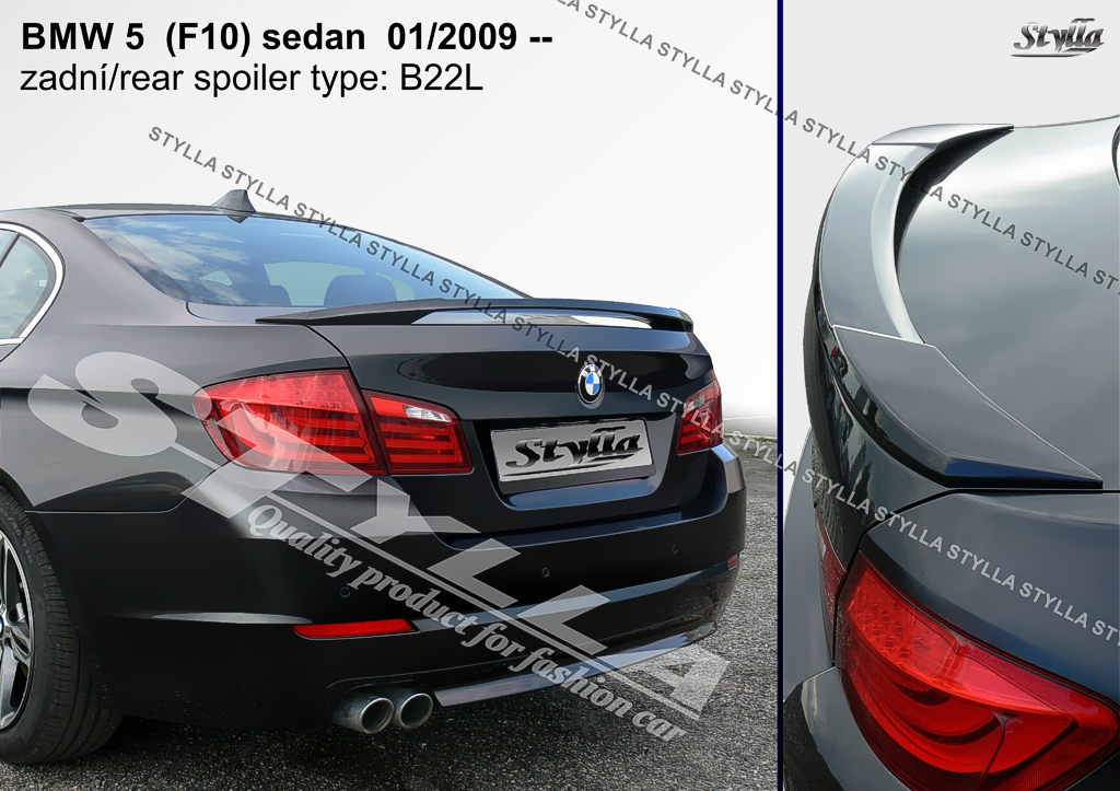 96c89646407d Details about SPOILER REAR BOOT TRUNK TAILGATE BMW F10 BRAND WING  ACCESSORIES